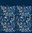 the border of delicate little blue and white vector image vector image