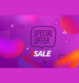 violet modern landing template with different vector image vector image