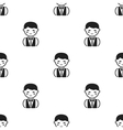 Waiter black icon for web and mobile vector image vector image
