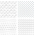 White geometric seamless patterns vector image vector image