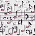musical notes pattern vector image