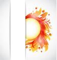 Colorful floral transparent background vector image