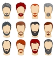 Man cartoon hairstyles collection vector image