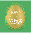 easter egg and lettering spring greeting card vector image