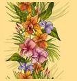 vintage floral tropical seamless pattern vector image