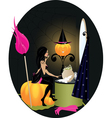 witch bedroom vector image