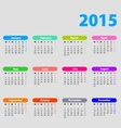 2015 calendar with bright bubbles vector image vector image