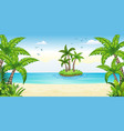 a tropical coastal landscape with isle vector image vector image