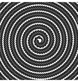 Abstract Dark Spiral Pattern vector image vector image