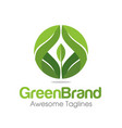 abstract organic leaf logo vector image vector image