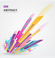 abstraction modern style composition made of vector image vector image