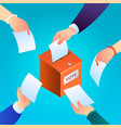 ballot concept background isometric style vector image