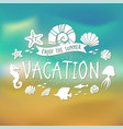banner for summer vacation on tropical beach vector image vector image