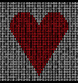 binary code heart vector image