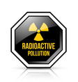 black and yellow radioactive pollution sign vector image