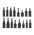 bottle silhouette set isolated on white background vector image vector image