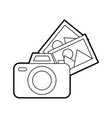 camera photographic with pictures vector image vector image