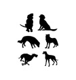 Canine Silhouettes vector image vector image