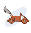 catapult hand drawn image vector image