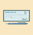 cheque icon theme flat style colorful vector image