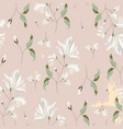 chic magnolia floral pattern on blush pink vector image vector image