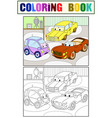 childrens cartoon color book for boys of a vector image