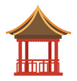 chinese architecture temple with columns and vector image