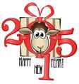 Chinese symbol lamb 2015 year vector image vector image