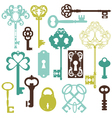 Collection of antique keys vector | Price: 1 Credit (USD $1)