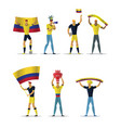 colombia football fans vector image vector image
