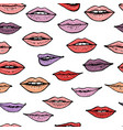 colorful seamless pattern with beautiful women vector image vector image