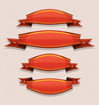 comic red circus banners and ribbons vector image vector image