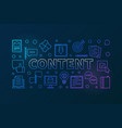 content outline creative horizontal banner vector image