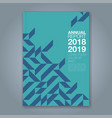 cover annual report 859 vector image