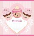 Cute Cupcakes card vector image vector image