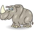 cute rhinoceros cartoon vector image vector image