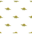dinosaur stegosaurus icon in cartoon style vector image vector image