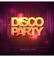 Disco background Disco party vector image vector image