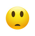 emoji yellow sad confused face vector image vector image
