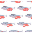 fish and shrimps seamless pattern on white vector image vector image