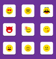 flat icon expression set of cross-eyed face have vector image vector image