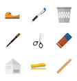 flat icon tool set of rubber letter duct and vector image vector image