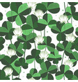 floral seamless pattern with clover leaves vector image vector image