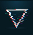 glitched triangle frame vector image vector image