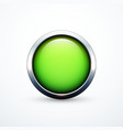 green round button vector image vector image