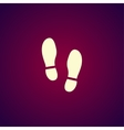Imprint soles shoes iconshoes print icon vector image