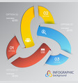 infographic web design concept vector image