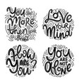 inspirational quotes for mental health day vector image vector image