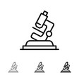 Lab microscope science zoom bold and thin black