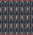 leaf blossom pattern navy blue and pink botanical vector image